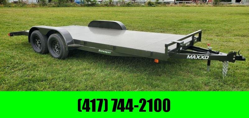 2020 MAXXD 83X18 TANDEM 7K METALLIC GRAY C3M CAR HAULER W/STEEL DECK & 4FT DOVE