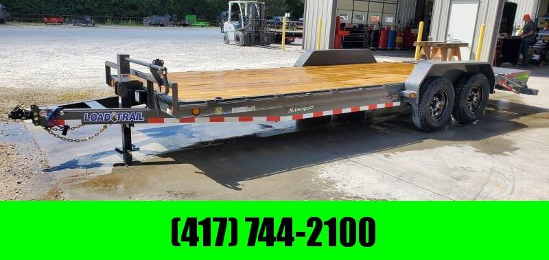 2021 Load Trail 83X22 TANDEM 14K GRAY CAR HAULER W/MAX RAMPS