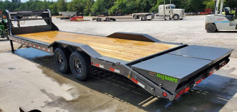 2021 Load Trail 102X30 TANDEM 14K GRAY GOOSENECK EQUIPMENT HAULER W/MAX RAMPS