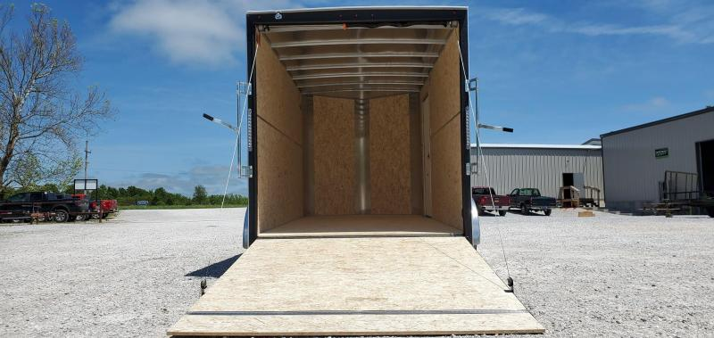 2020 H and H 7X14 TANDEM 7K BLACK CARGO W/7' HEIGHT