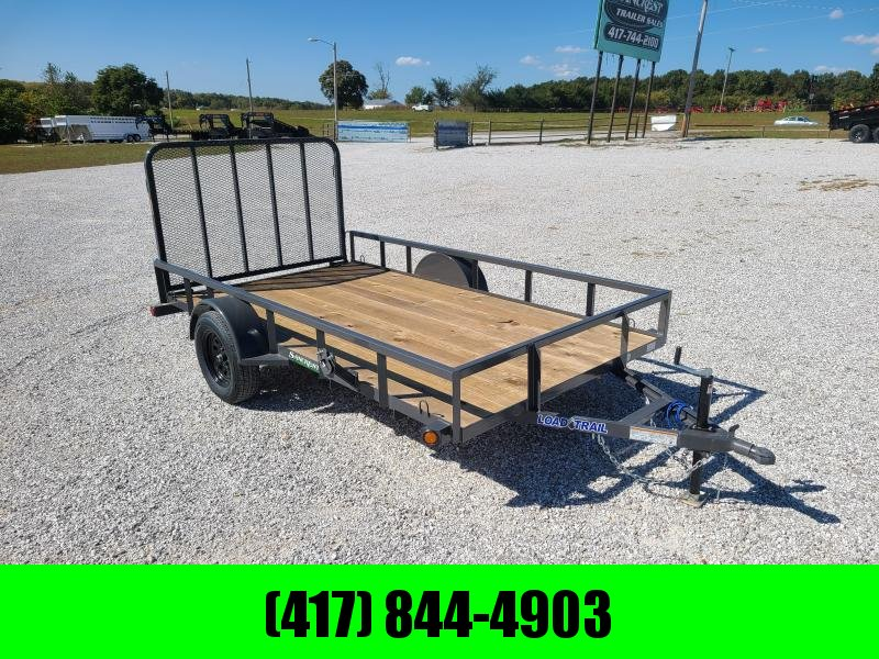 2021 LOAD TRAIL 77X12 SINGLE 3 5K GRAY UTILITY W TUBE TOP RAILING 4 TUBE GATE
