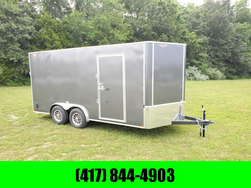 2021 H&H TANDEM 10K CHARCOAL CARGO W/7' HEIGHT & ALUMINUM WHEELS