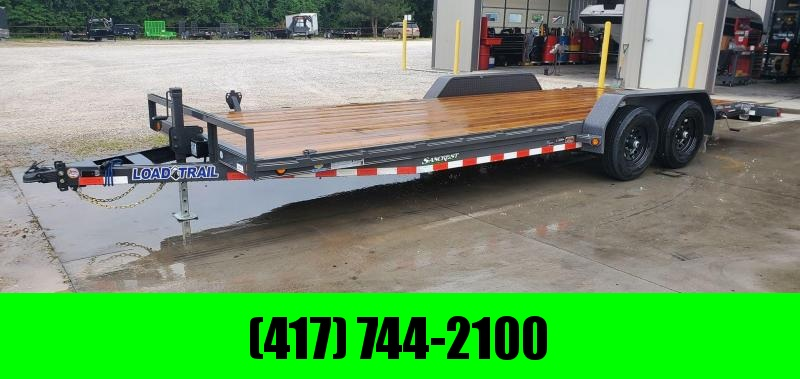 2020 Load Trail 83X22 TANDEM 10K GRAY CAR HAULER W/SLIDE OUT RAMPS & STAB JACKS