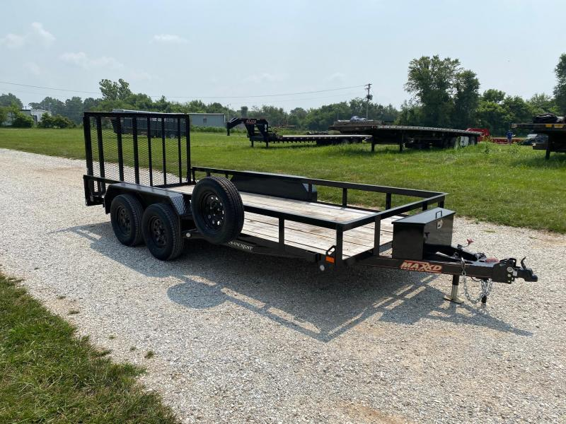 2020 MAXXD 77X16 TANDEM UTILITY WITH SPARE TIRE AND TOOLBOX