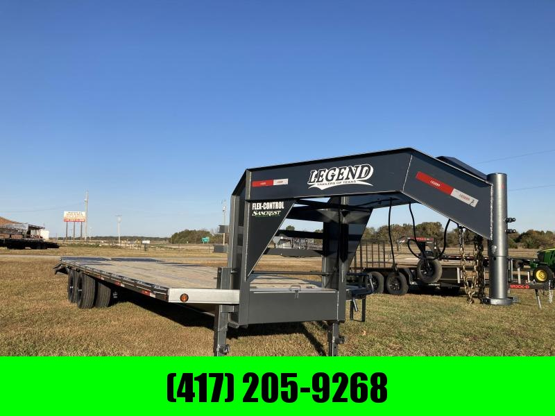 2021 Legend Trailers 102x28 Tandem Low-Pro Equipment Trailer W/Max Ramps & Torque Tube