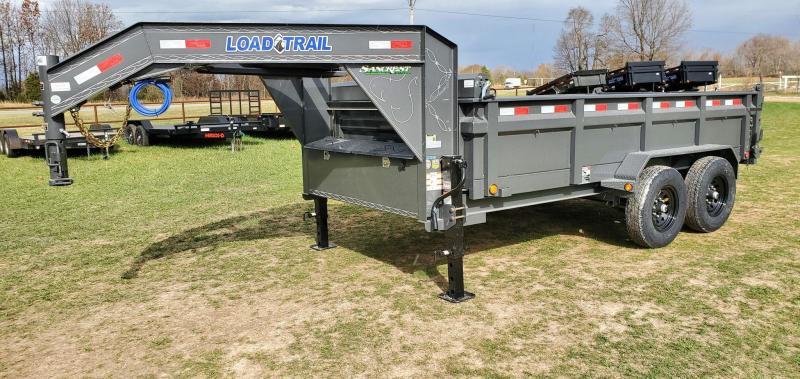 """2021 Load Trail 83X14 TANDEM 14K GRAY GN DUMP W/24"""" SIDES"""