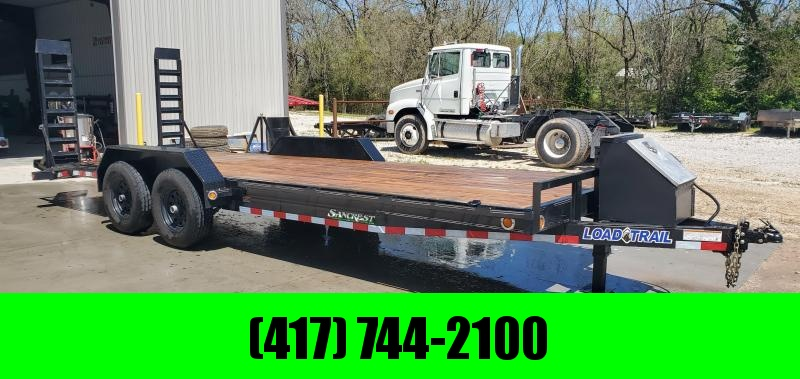 2019 Load Trail 83X22 TANDEM 14K CAR/EQUIPMENT TRAILER W/STAND UP RAMPS & TOOLBOX