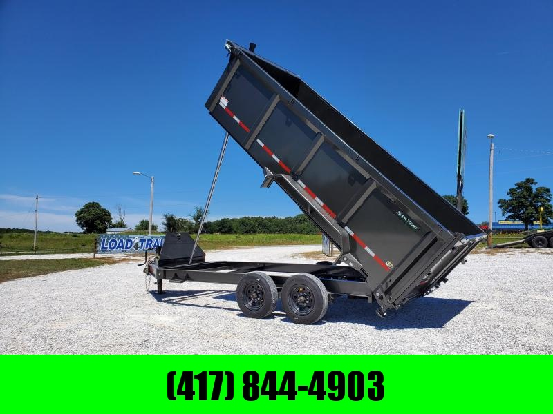 2021 MAXXD 83X16 TANDEM 16K METALLIC GRAY DTX TELESCOPIC DUMP W/4FT  SIDES