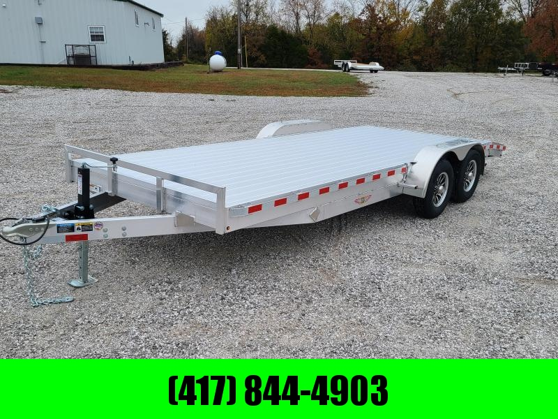 2021 H&H 82X20 TANDEM 10K ALUMINUM CAR HAULER W/ EXTRUDED DECK & SLIDE OUT RAMPS
