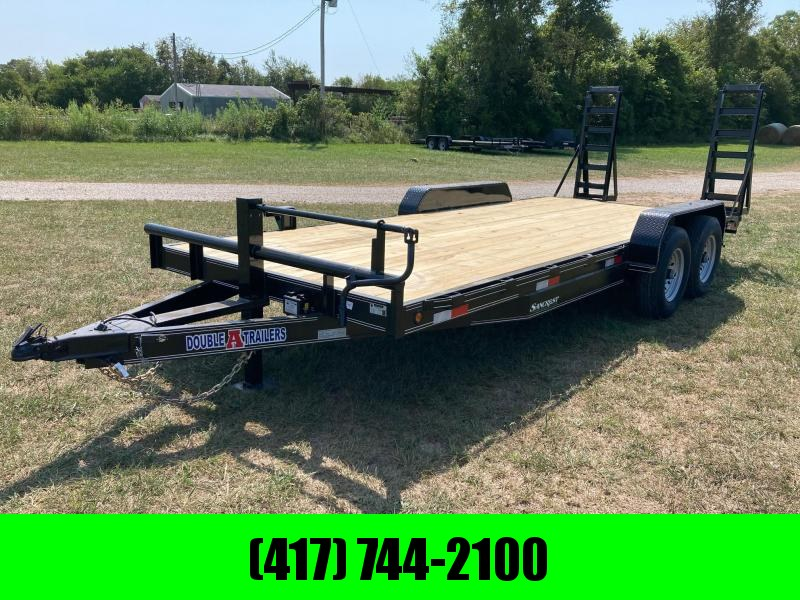 """2021 Double A 83X20 TANDEM 14K CARHAULER W/ 2FT DOVE AND 16"""" WIDE STAND UP RAMPS"""