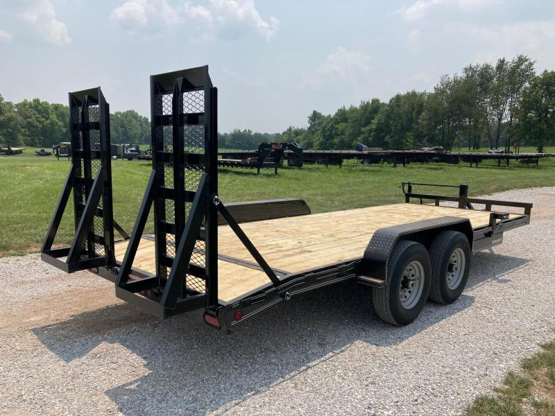 2021 Double A 83X20 TANDEM 14K CARHAULER W/ STAND UP RAMPS