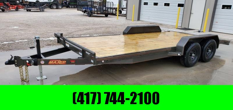 2020 MAXXD 83X18 TANDEM 10K C5X CAR HAULER W/2' STEEL DOVETAIL & 2 BRAKE AXLES