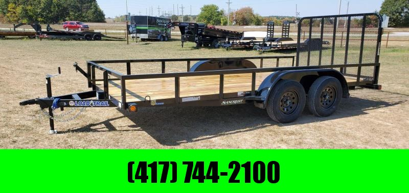 2021 Load Trail 83X16 TANDEM 7K UTILITY W/TUBE TOP RAILING & 4' TUBE GATE