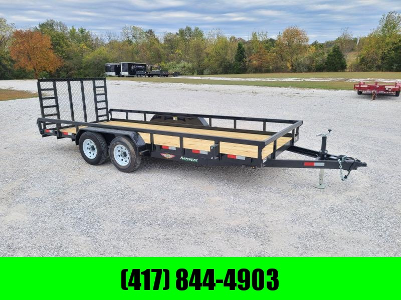 2021 H and H Trailer 2021 82 X 18 HEAVY DUTY RAIL SIDE UTILITY  W/ 5200LB AXLES