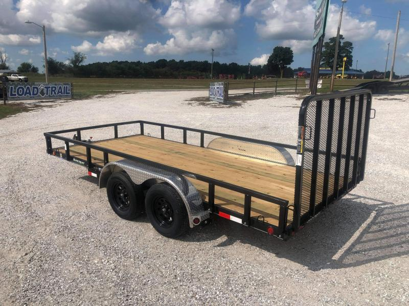2020 Load Trail 83X16 TANDEM 7K UTILITY W/REMOVABLE RAILING