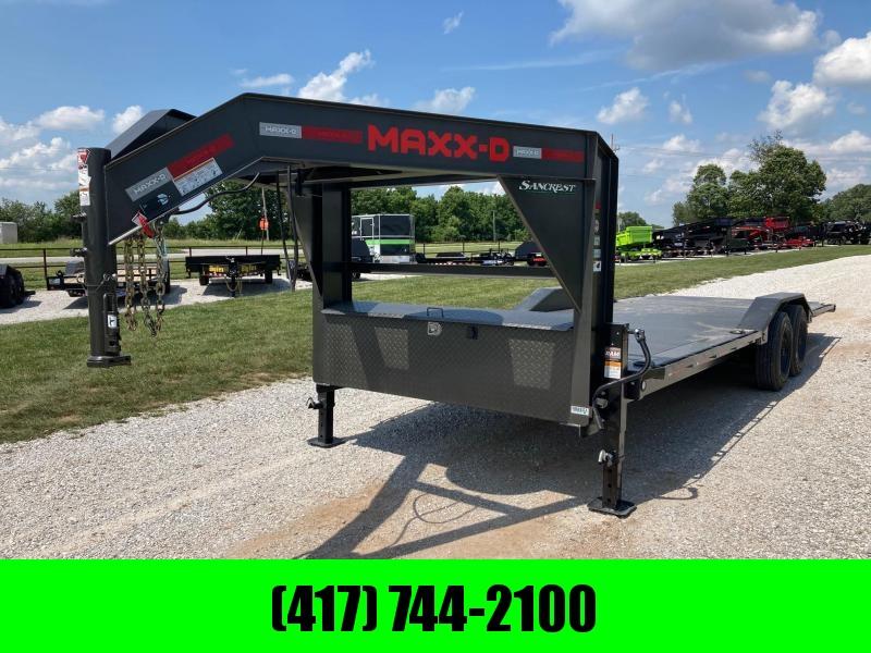 2021 MAXXD 102x24 TANDEM 16K CARHAULER W/ FULL TILT & STEEL FLOOR
