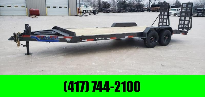 2021 Traxx 84X22 16K TANDEM EQUIPMENT HAULER W/3FT DOVE & EQUIPMENT STAND UP RAMPS
