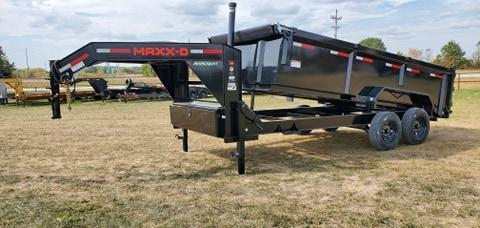 2021 MAXXD 83X16 TANDEM 16K DTX GN DUMP W/24K TELESCOPIC CYLINDER & 3FT SIDES