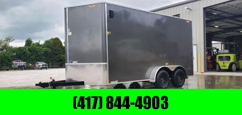 2020 H&H 7X14 TANDEM 7K CHARCOAL CARGO W/7' HEIGHT