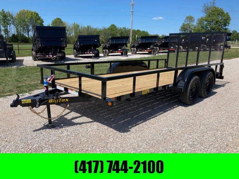 2022 Big Tex Trailers 77X16 TANDEM 7K UTILITY W/ 4' FOLDING RAMP