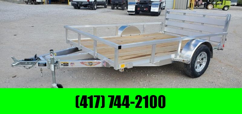 "2020 H AND H 76X10 SINGLE 3K ALUMINUM UTILITY W/52"" BI-FOLD GATE & TUBE TOP RAILING"