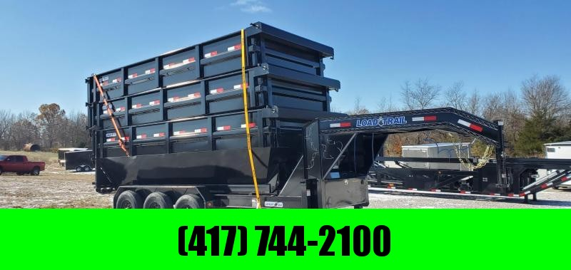 2021 Load Trail 83x16 TRIPLE 21K ROLL OFF GOOSENECK TRAILER W/3- 83X16X4 BINS