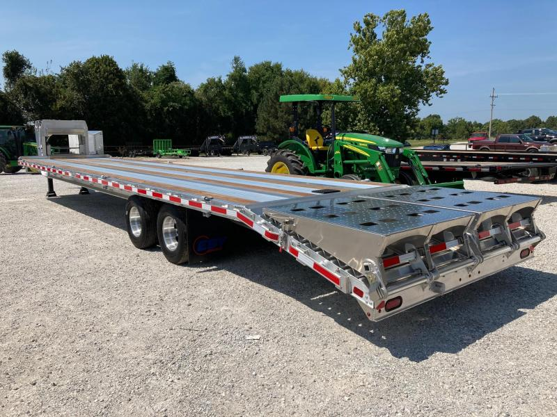 2022 EBY 102x40 TANDEM 25K GN FLATBED W/ FLIP OVER RAMPS AND CHAIN RACK