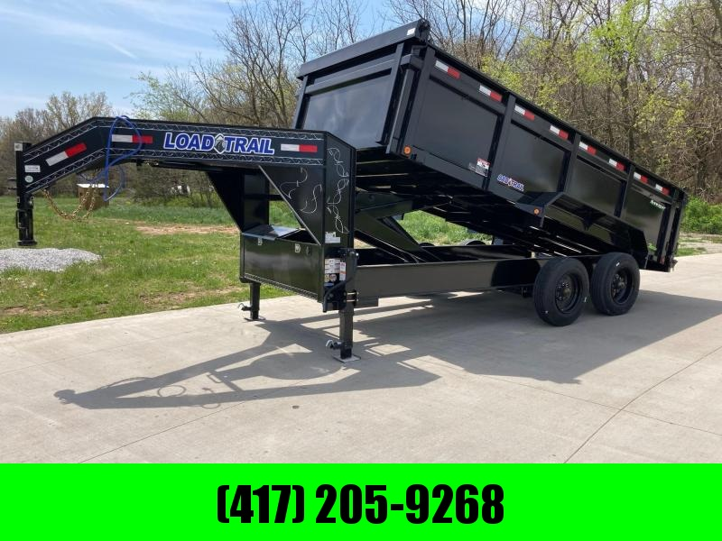 2021 Load Trail 83x16 Tandem 20K HD GN Dump Trailer W/ 3 FT Sides