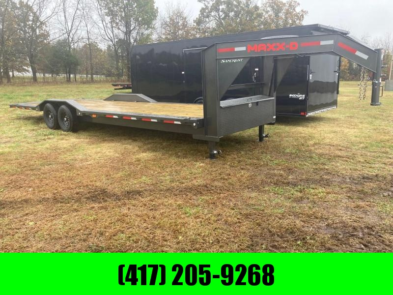2021 MAXXD Tandem 102x28 14K Gooseneck Power Tilt Equipment Trailer