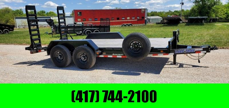 2020 Load Trail 83X16 TANDEM 14K EQUIPMENT HAULER W/STAND UP RAMPS & SPARE