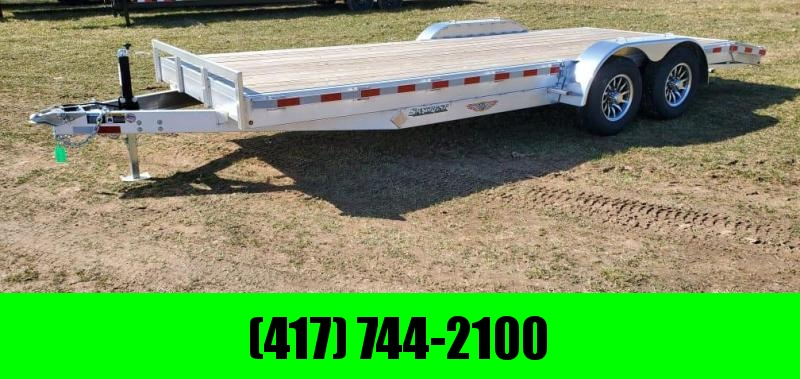 2021 H&H 82X20 TANDEM 10K ALUMINUM CAR HAULER W/2' EXTRUDED DOVE