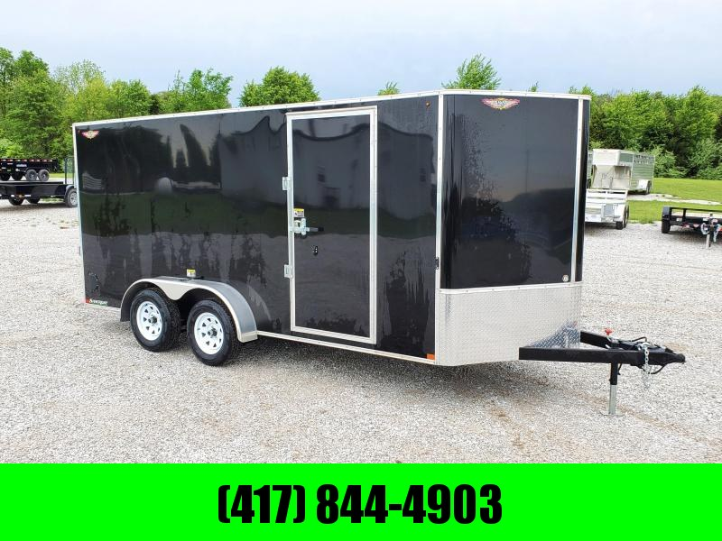 """2020 H and H 7X16 TANDEM 7K BLACK CARGO W/6'6"""" HEIGHT7K BLACK CARGO W/6'6"""" HEIGHT"""