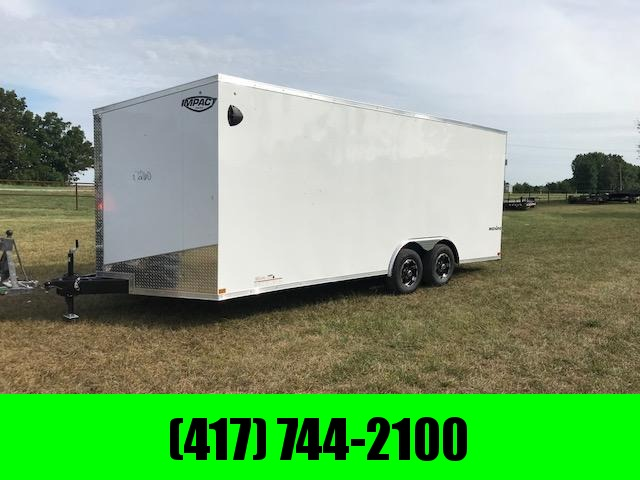 2021 Impact 8.5X20 TANDEM 10K WHITE SHOCKWAVE CARGO W/7FT HEIGHT
