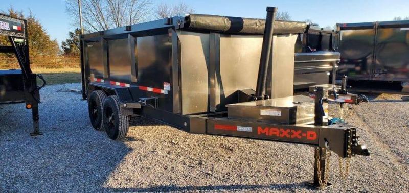 2021 MAXXD 83x14 Tandem Telescopic Dump Trailer W/ 4 FT Sides