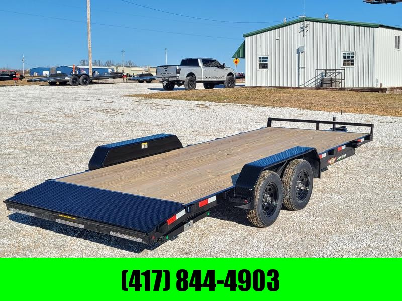2021 H and H 82x20 Flatbed Car Hauler Trailer