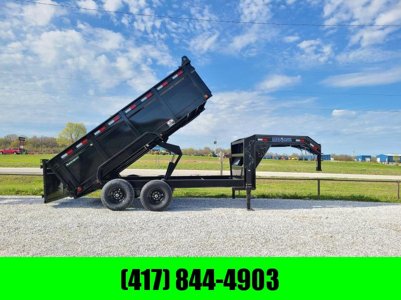 2021 Load Trail 83x14 Tandem 14K  GN Dump Trailer W/ 3 FT Sides