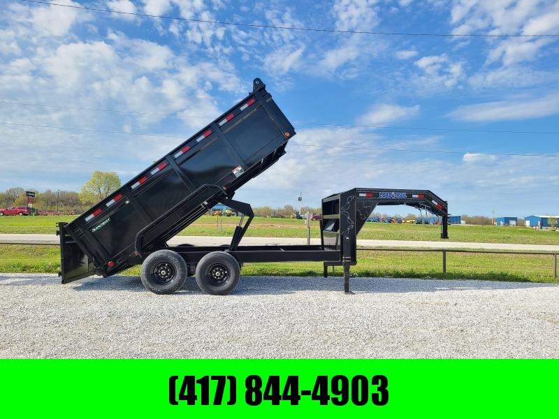 2021 Load Trail 83x14 Tandem 14K  GN Dump Trailer W/ 3 FT Sides