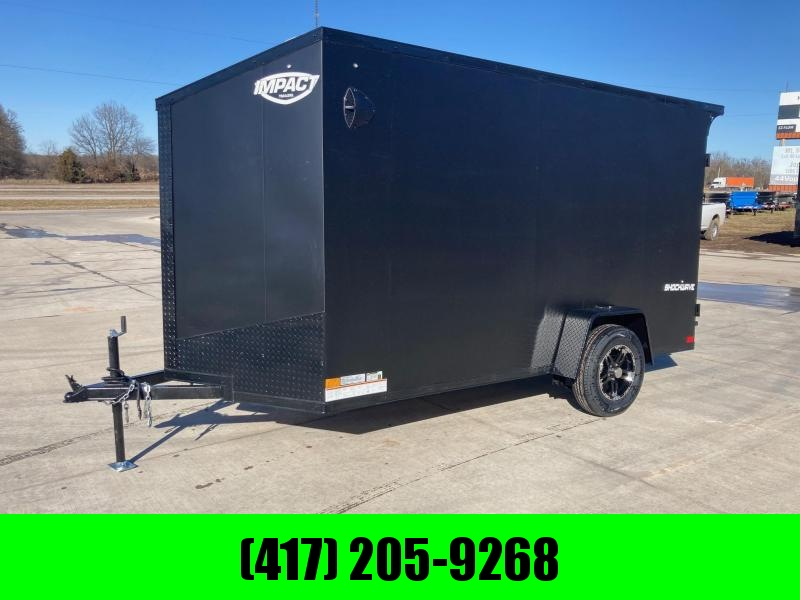 2022 Impact Trailers 6x12 Single Axle Enclosed Cargo Trailer