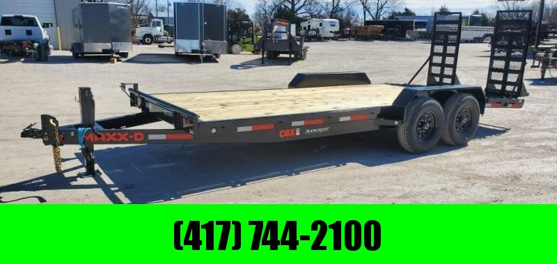 2021 MAXXD 83X20 TANDEM 14K EQUIPMENT HAULER W/4'DOVE TRACTION BARS & EQUIPMENT STAND UP RAMPS