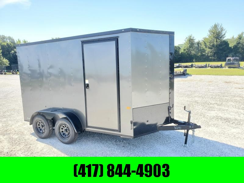 2022 Rock Solid 7x12 Tandem Cargo Trailer (BLACK OUT TRIM PACKAGE)