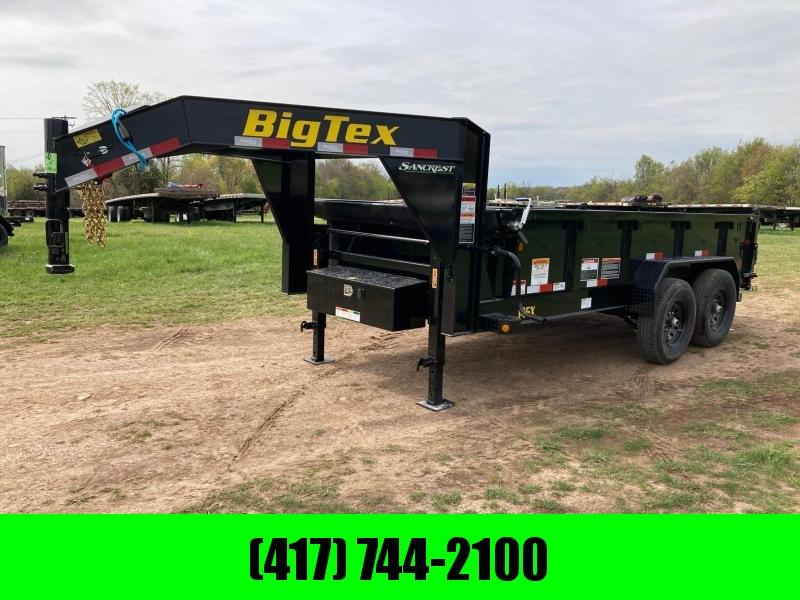 "2021 Big Tex Trailers 83""X14' TANDEM 16K GOOSENECK DUMP W/ 24"" SIDES"