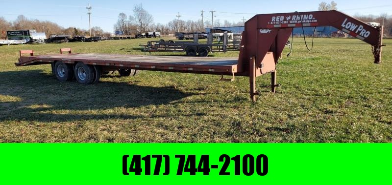 2009 Red Rhino 102X32 TANDEM LO-PRO GN W/10K ELEC AXLES 14PLY TIRES WINCH RAIL & ELECTRIC JACKS