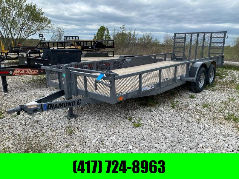 2021 Diamond C Trailers 82x20 Tandem Equipment Trailer