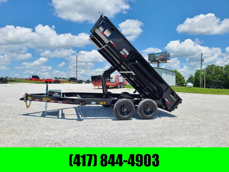 """2022 BIG TEX  83X14  LD TANDEM 14K DUMP W/ 20"""" SIDES AND SLIDE IN RAMPS"""