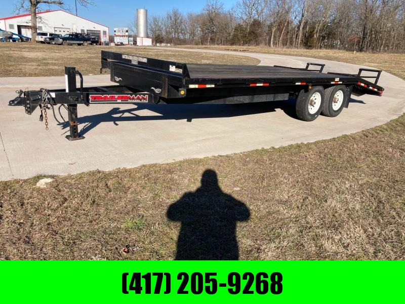 2007 Trailerman Trailers Inc. 102x20 Tandem 20K Equipment Trailer