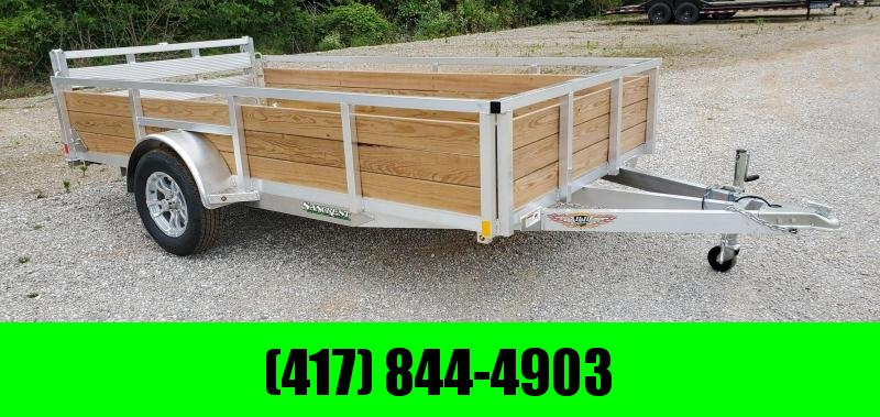 "2020 H and H 76X12 SIGNLE 3.5K ALUMINUM UTILITT W/24"" WOOD SIDE RAILING"