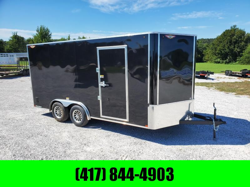 2021 H and H Trailer 8 X 16 TANDEM 10K CARGO BLACK
