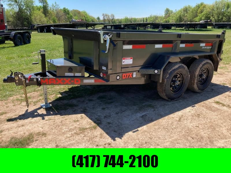 "2021 MAXXD 72X10 TANDEM 10K DUMP WITH 21"" SIDES & SLIDE IN RAMPS"