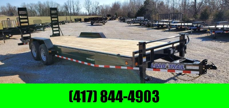 2020 Load Trail 83X24 TANDEM 14K CAR/EQUIPMENT HAULER W/ 2-10K JACKS & STAND UP RAMPS