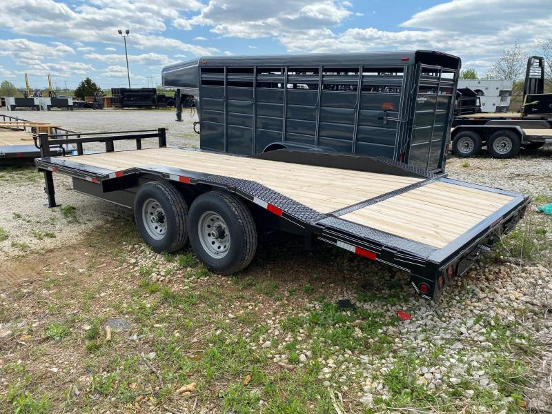 2021 Double A 102x20 Tandem Equipment Trailer